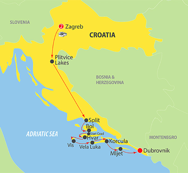 Croatia & Adriatic Cruise from Zagreb to Split & Dubrovnik ...