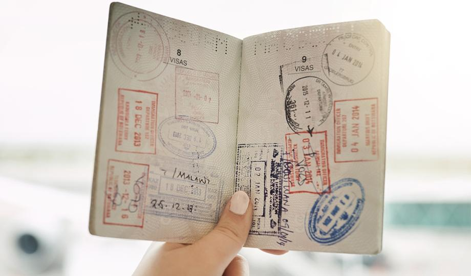 Open passport page