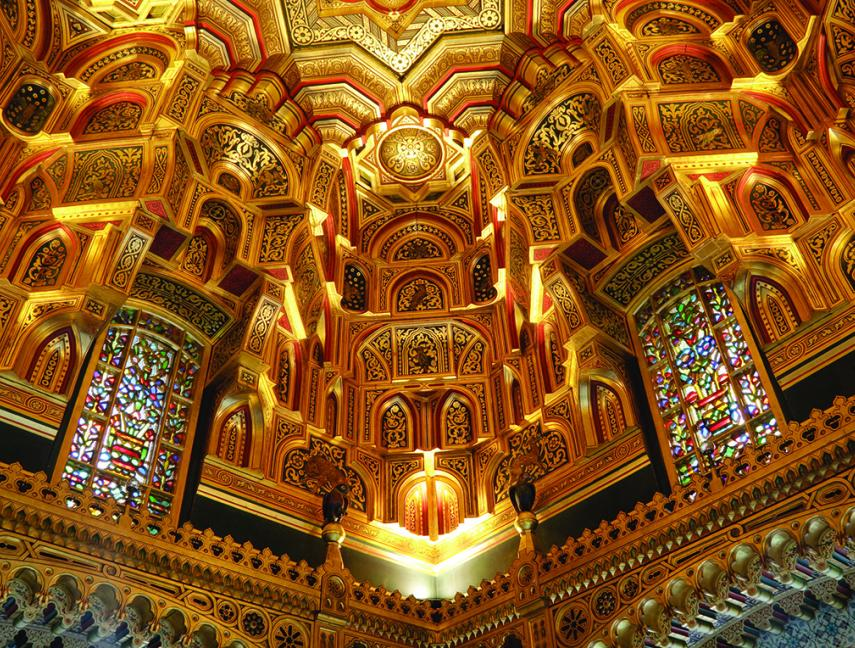 Cardiff Castle's Arab Room, in Cardiff Wales