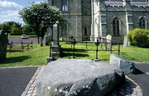 St. Patrick's Grave at Down Cathedral in Ireland