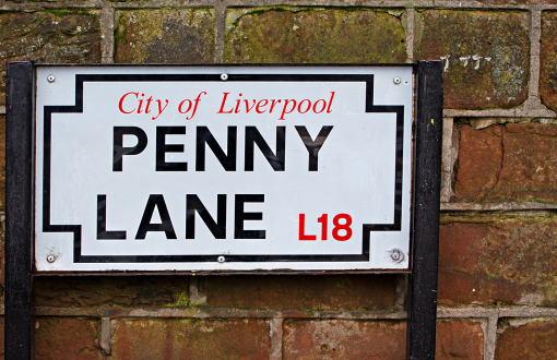 Penny Lane in Liverpool, England