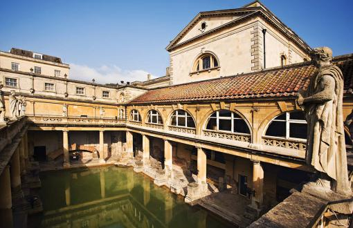 The ancient Roman baths in Bath, England
