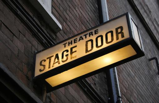 A Stage Door Sign in London's West End, England